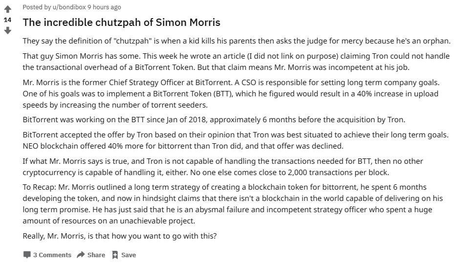 Reddit Simon Morris