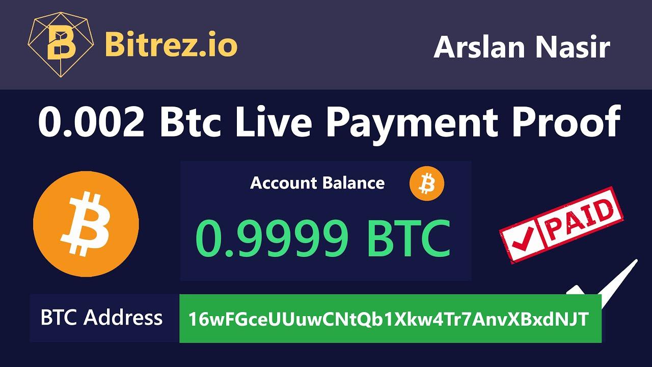Bitrez.io New Free Bitcoin Mining Site 0.002 Bitcoin Live ...