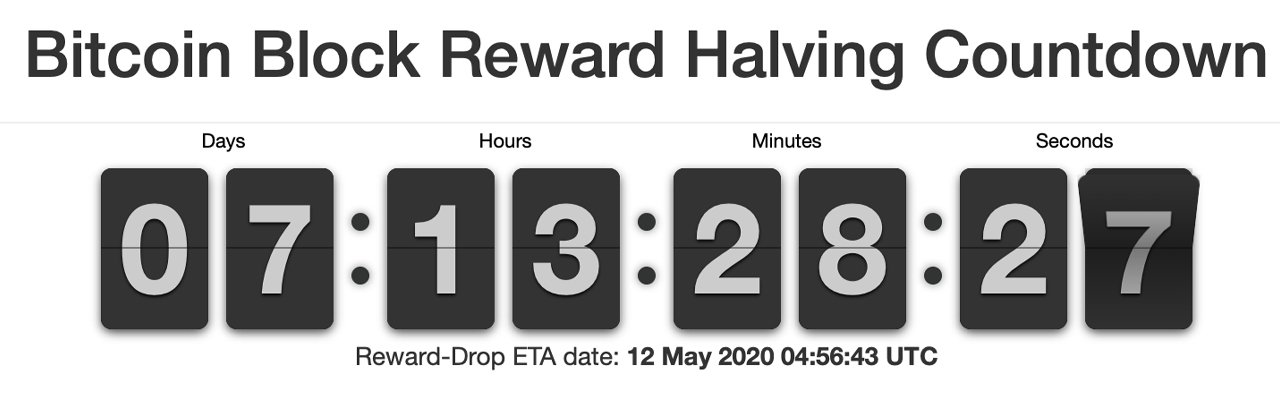 7 Days Left Until the Great Bitcoin Halving: Hashrate Jumps Over 140 Exahash, Miner's Hoard
